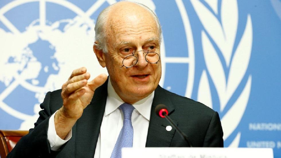 دي ميستورا: تركيا وروسيا قادرتان على منع انهيار محادثات سوريا