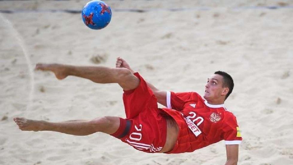 المنتخب الروسي يفوز على نظيره المصري على شواطئ دبي (فيديو)