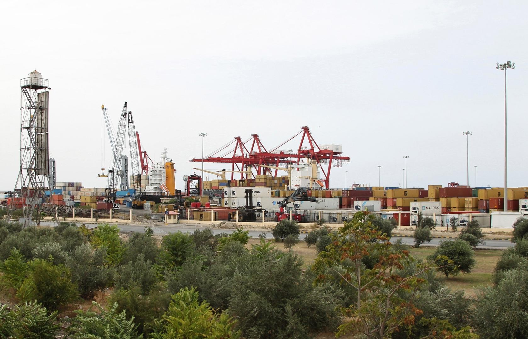 ميناء اللاذقية في سوريا