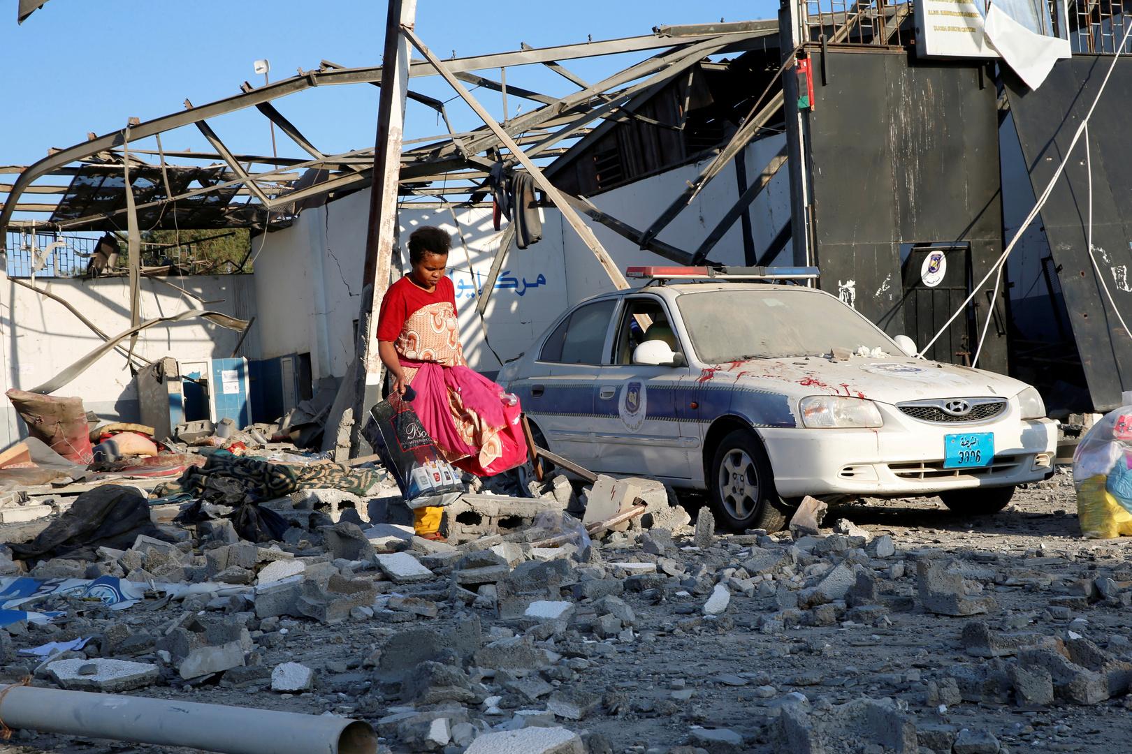 تقرير أممي: القصف الدموي لمركز تاجوراء في ليبيا نفذته طائرة أجنبية