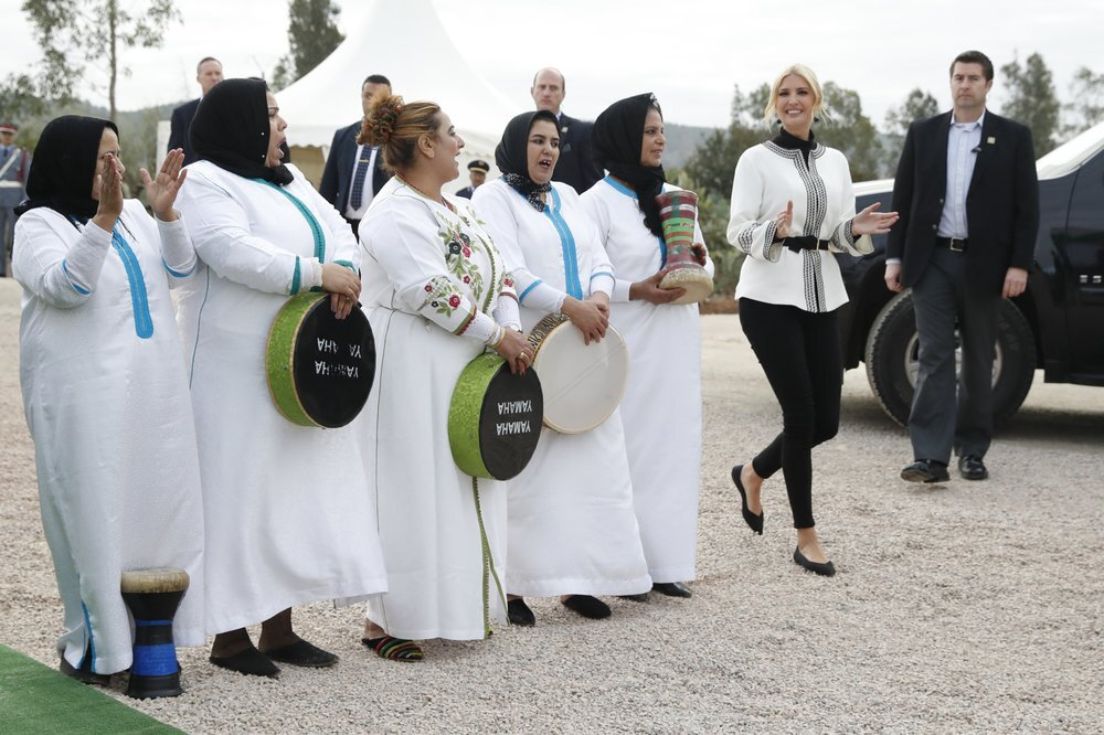 بالصور.. إيفانكا ترامب تلتقي مزارعات مغربيات