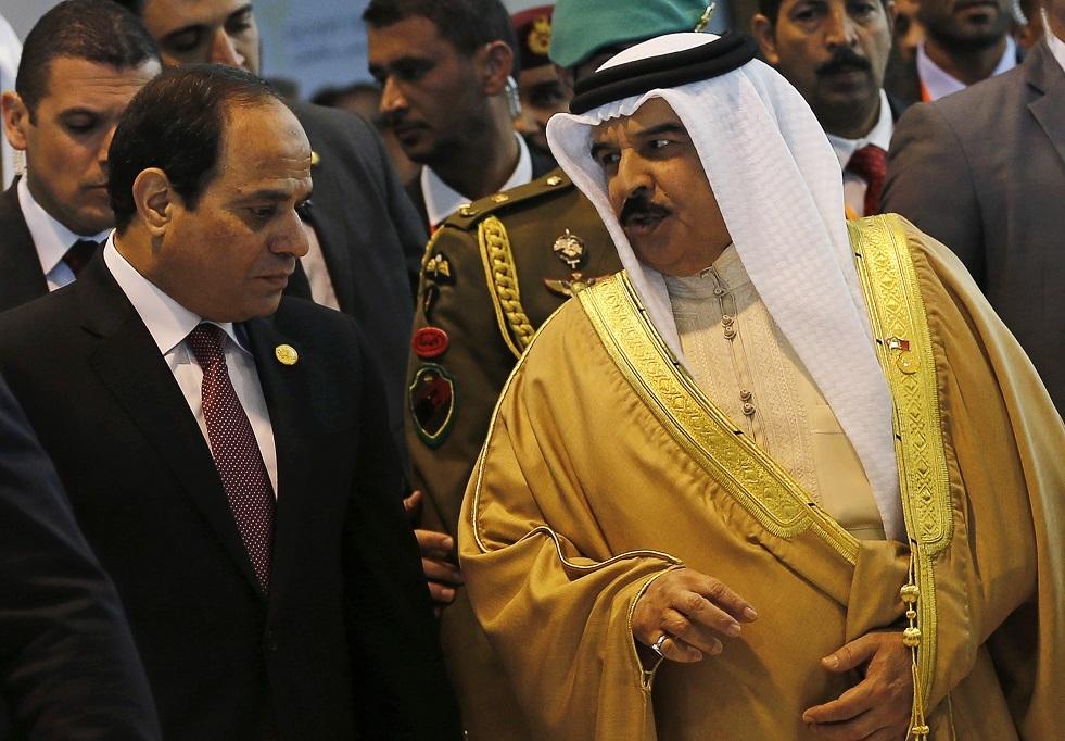 السيسي لملك البحرين: أمن الخليج جزء لا يتجزأ من أمن مصر القومي