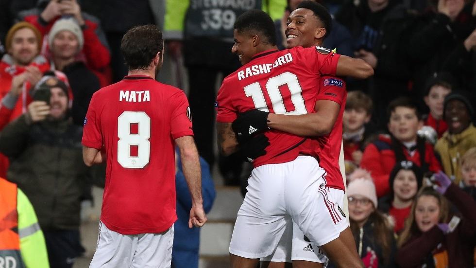 الدوري الأوروبي.. مانشستر يونايتد يقسو على بارتيزان بثلاثية ويتأهل لدور الـ 32