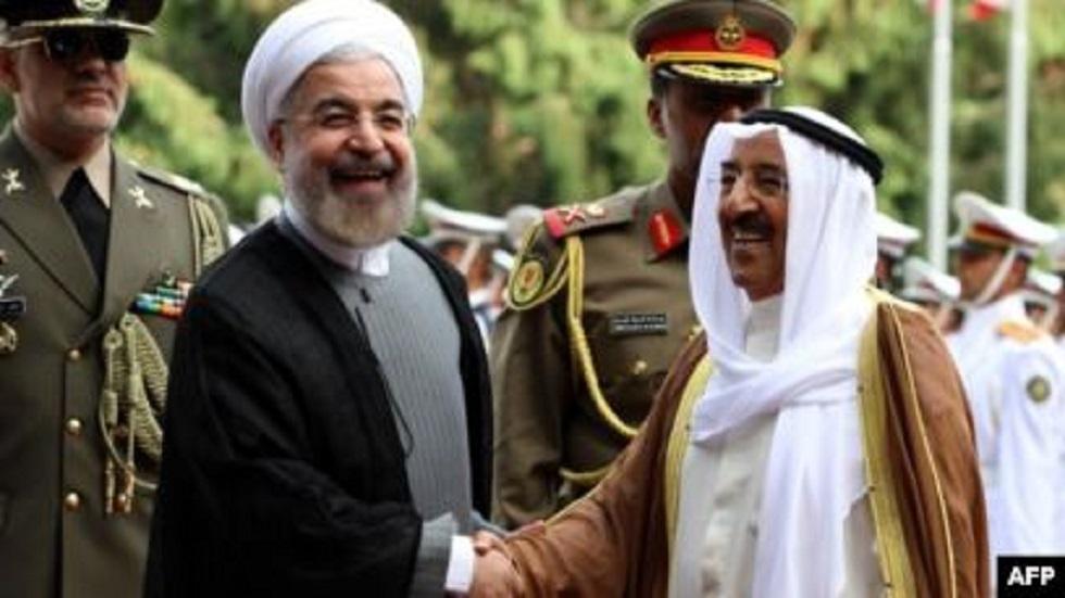 أمير الكويت مع روحاني في طهران(أرشيفية)