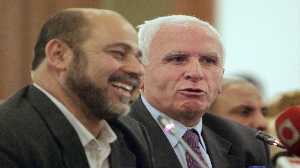 موسى أبو مرزوق وعزام الأحمد - أرشيف