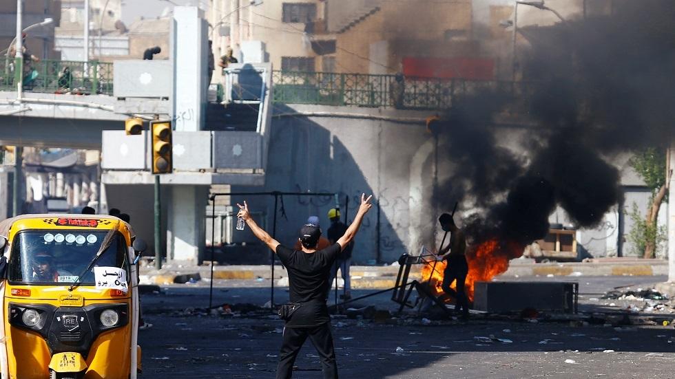 صدامات بين المتظاهرين وقوات الأمن في بغداد