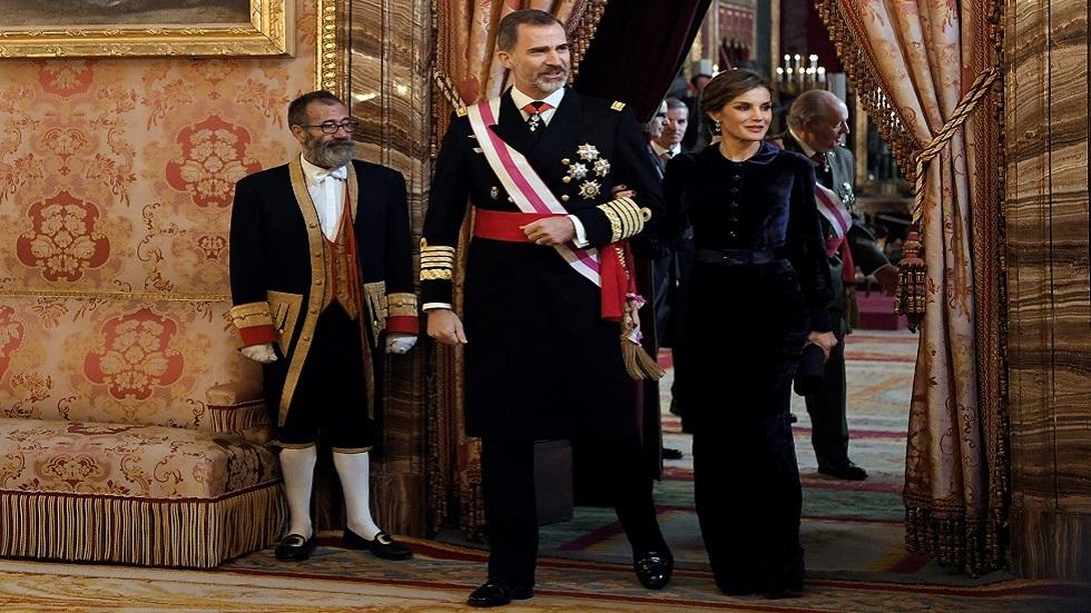 ملك إسبانيا فيليبي السادس وزوجته ليتيسيا (صورة أرشيفية)
