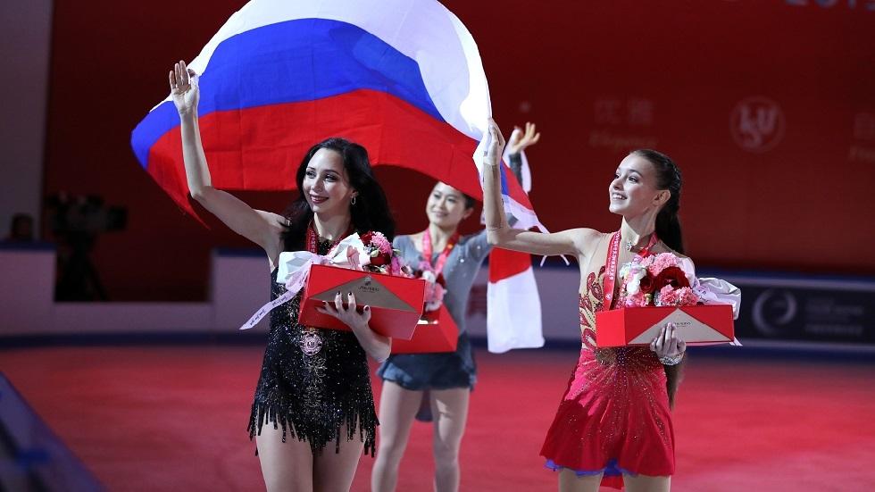 الروسية شيرباكوفا تفوز بجائزة الصين للتزحلق على الجليد