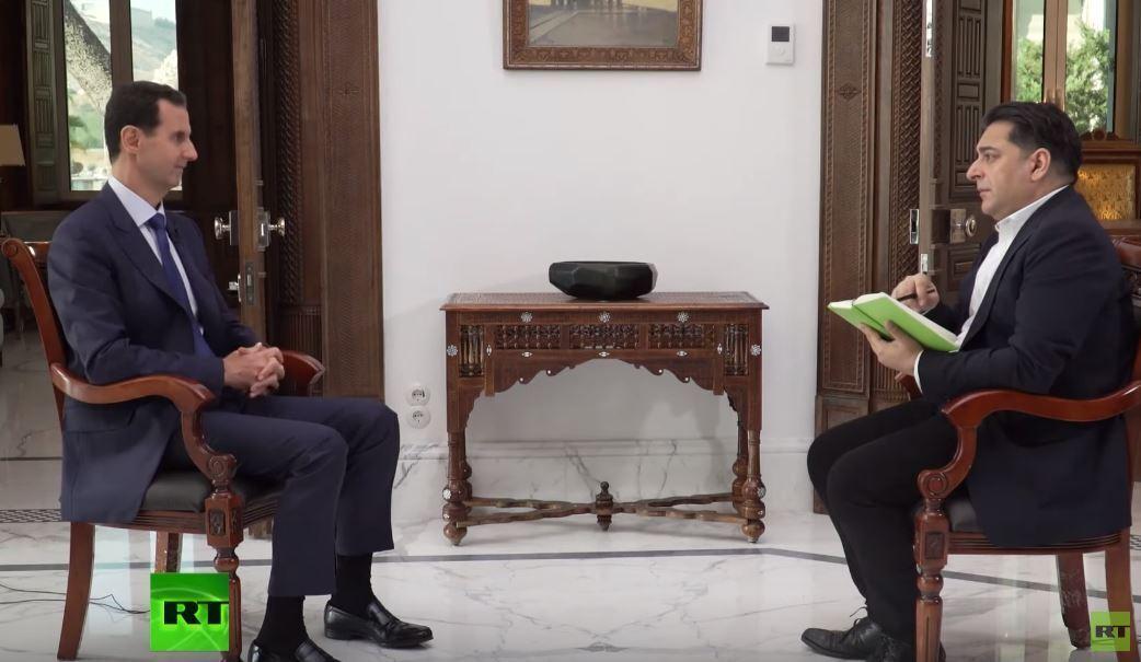 النص الكامل لحديث الرئيس الأسد لقناة RT