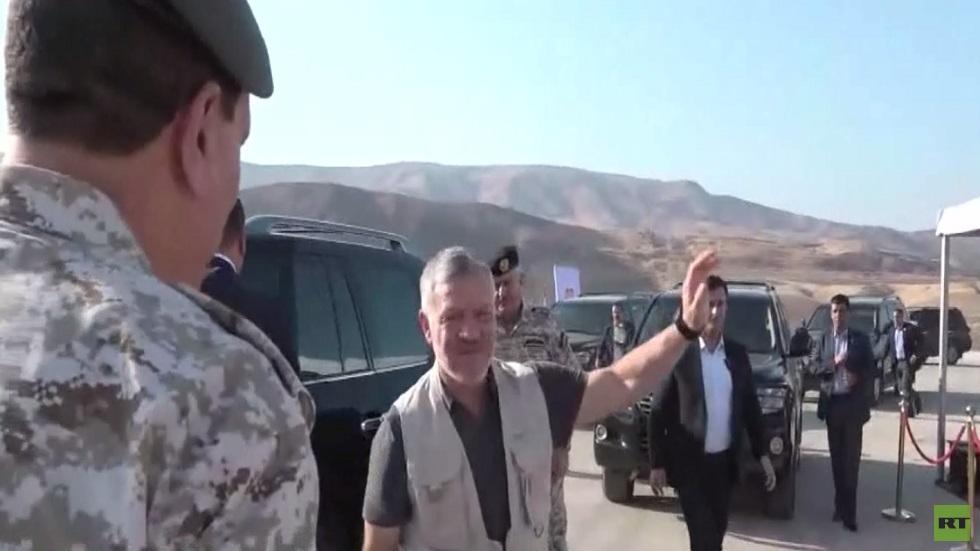 العاهل الأردني يزور منطقة الباقورة