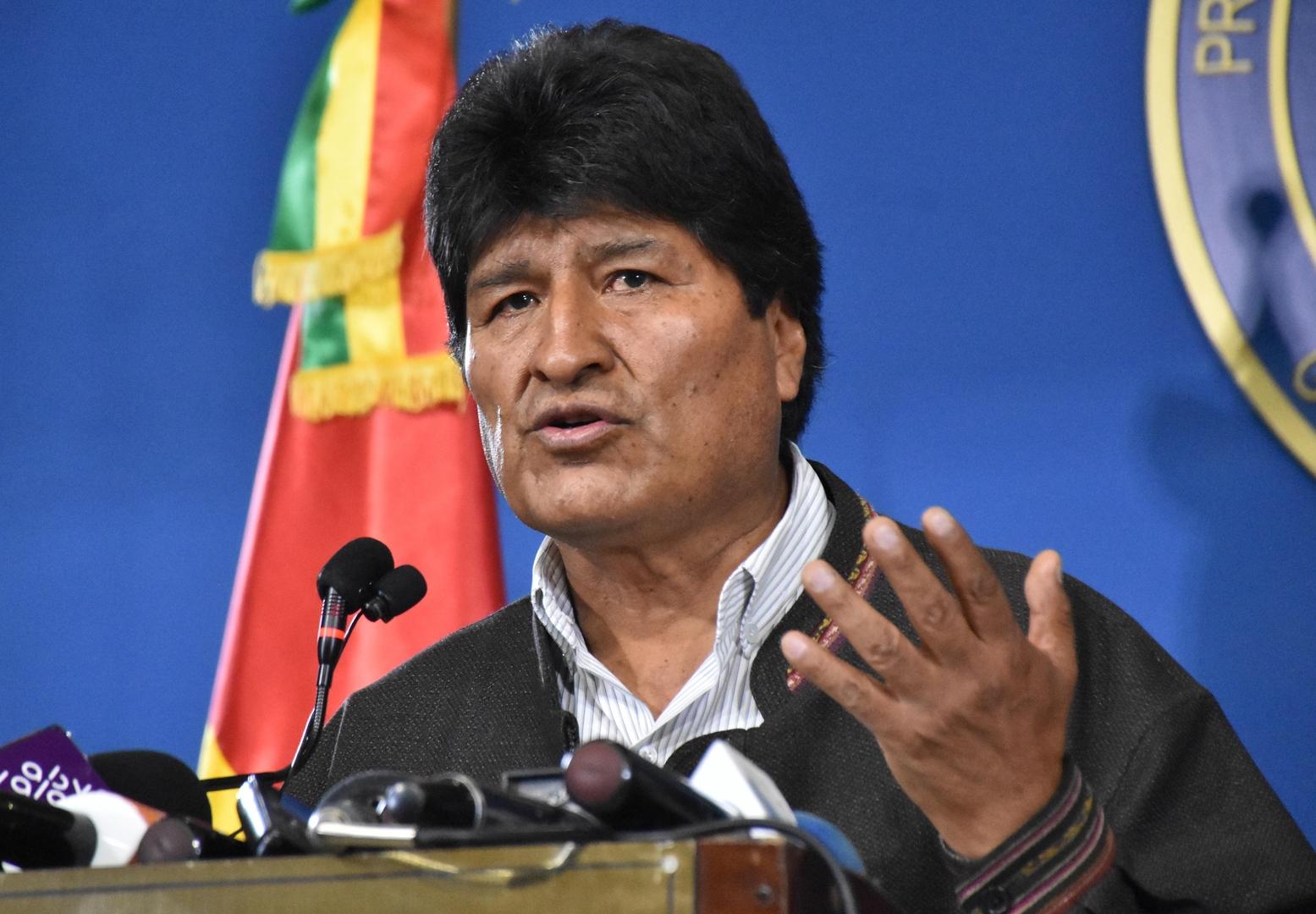 المكسيك تمنح حق اللجوء للرئيس البوليفي المستقيل إيفو موراليس