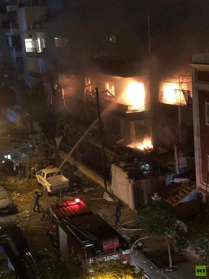 قتلى وجرحى بعدوان استهدف مبنى مدنيا في دمشق
