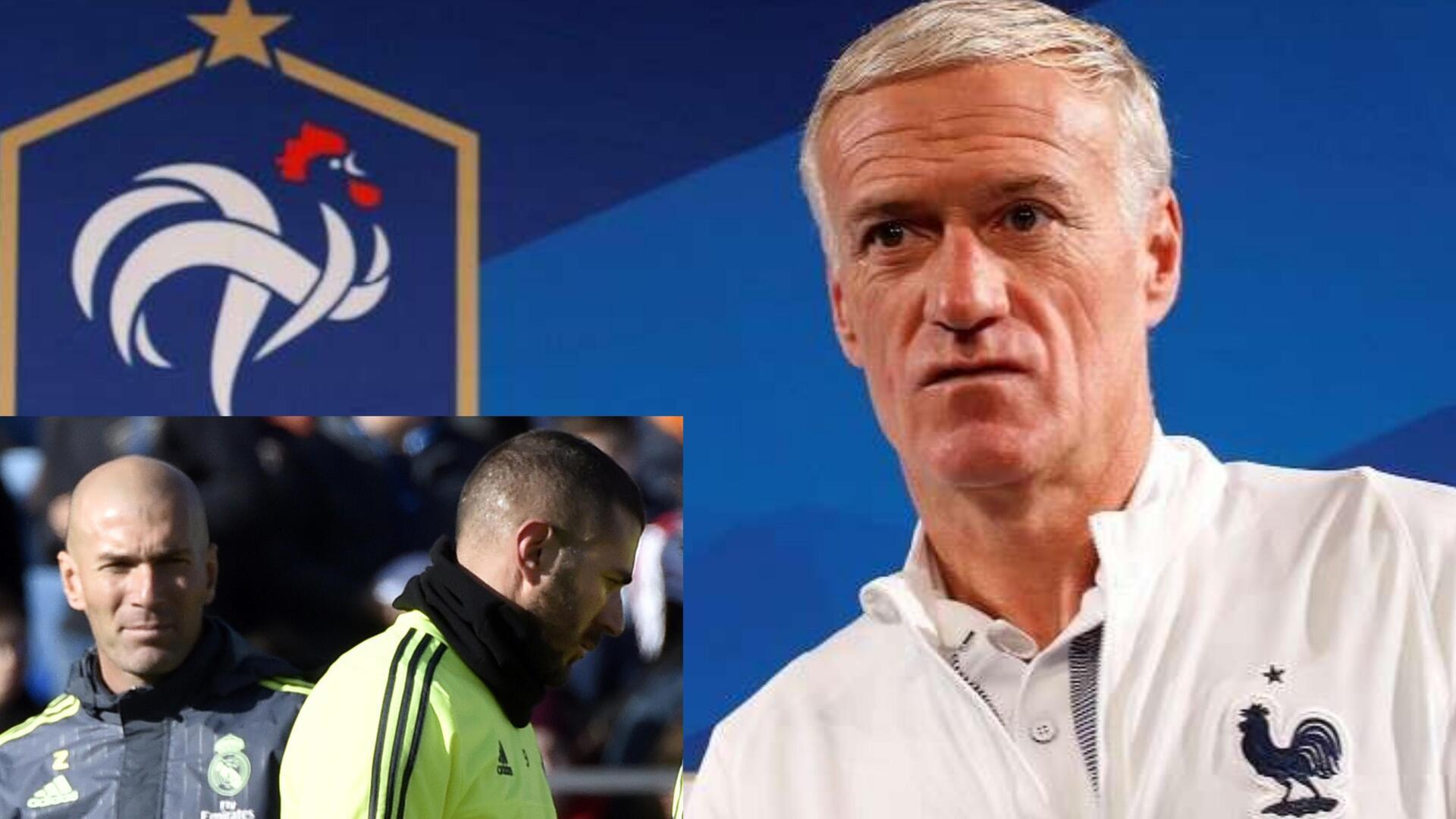 ديشان يصدم زيدان بشأن عودة بنزيما إلى منتخب فرنسا
