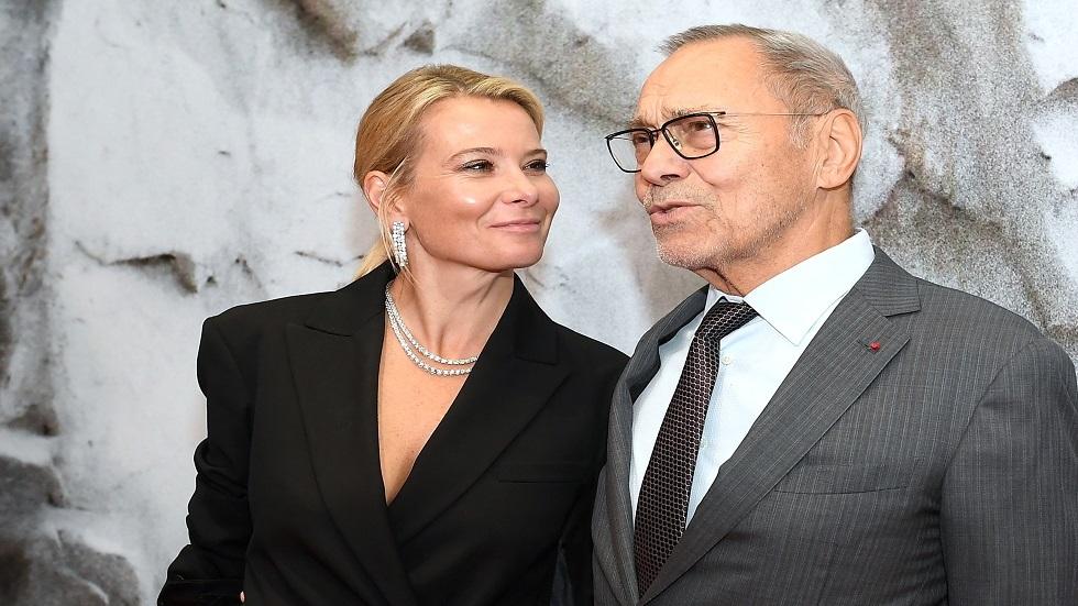 كونتشالوفسكي مع زوجته