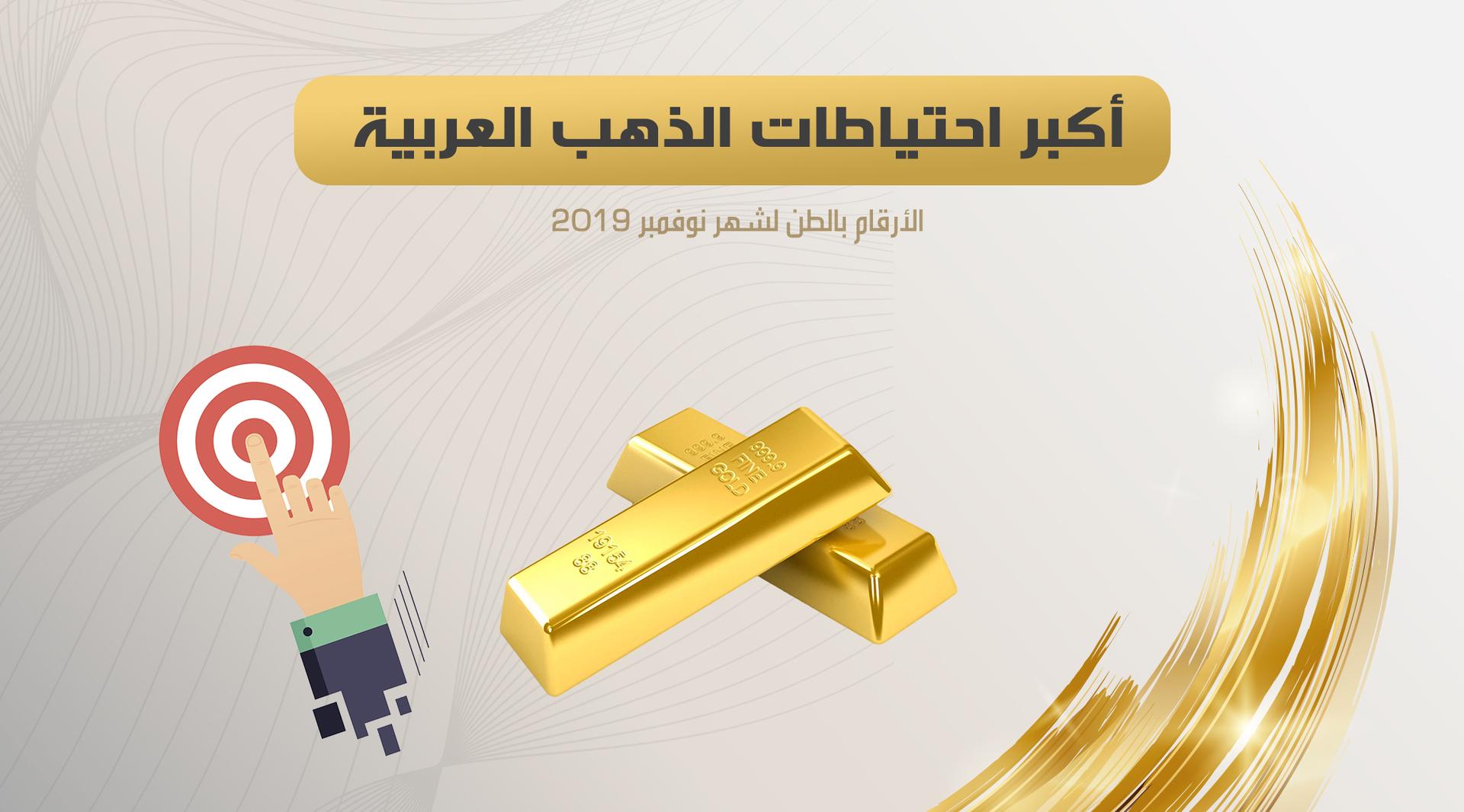 أكبر احتياطات الذهب العربية (نوفمبر 2019)