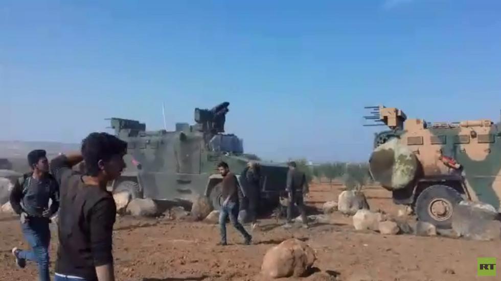 قتلى وجرحى خلال احتجاجات على دخول دورية تركية قرية قرب عين العرب السورية