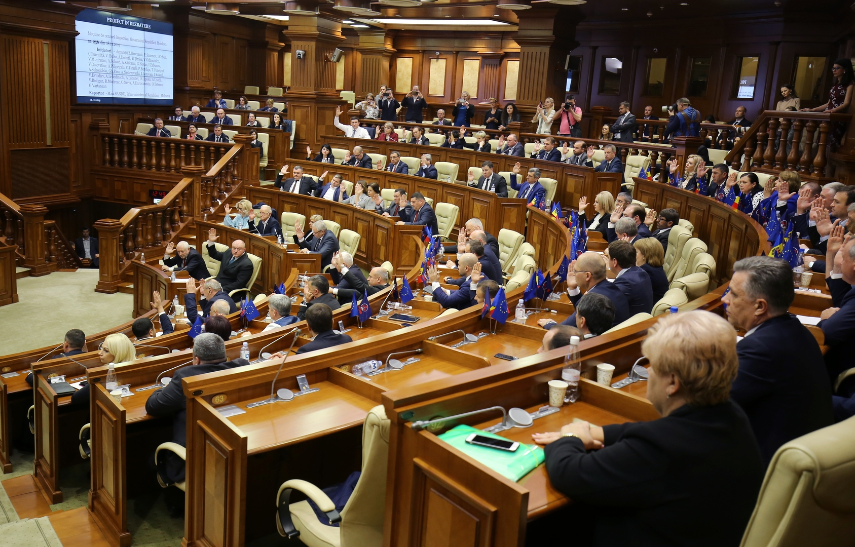 البرلمان المولدوفي يصادق على قرار حجب الثقة عن الحكومة الائتلافية