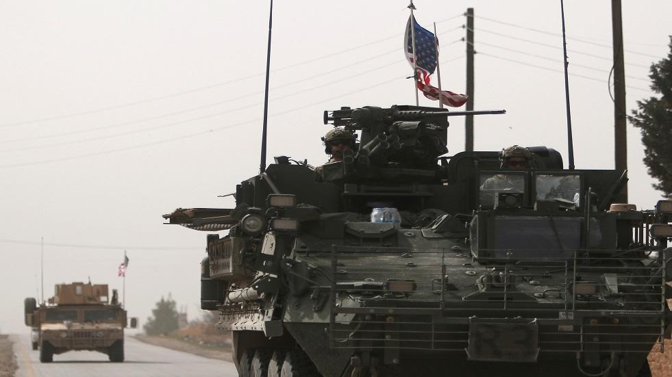 مركبة للجيش الأمريكي في منبج السورية - أرشيف