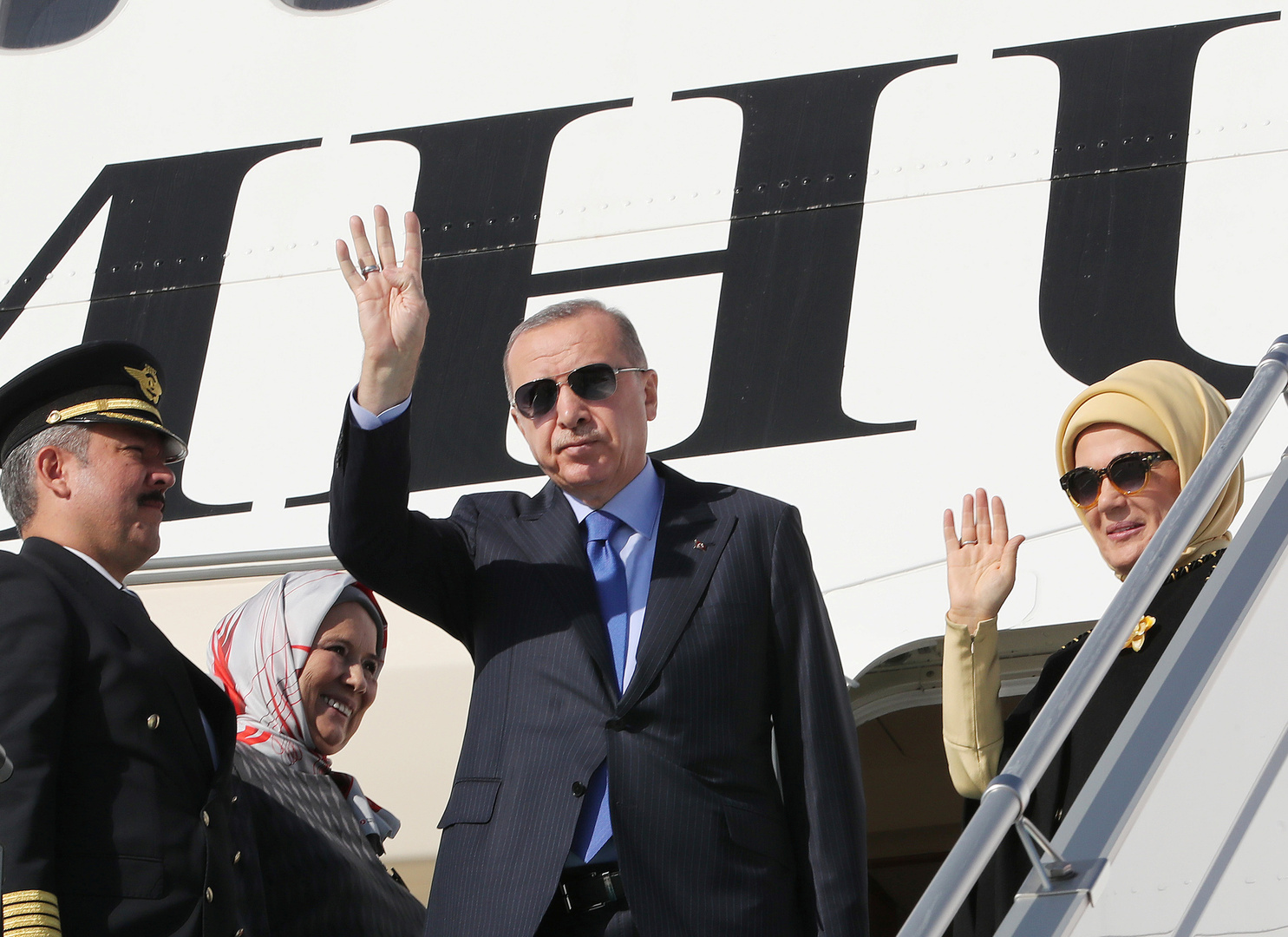 بالفيديو.. واشنطن تستقبل أردوغان بالمظاهرات