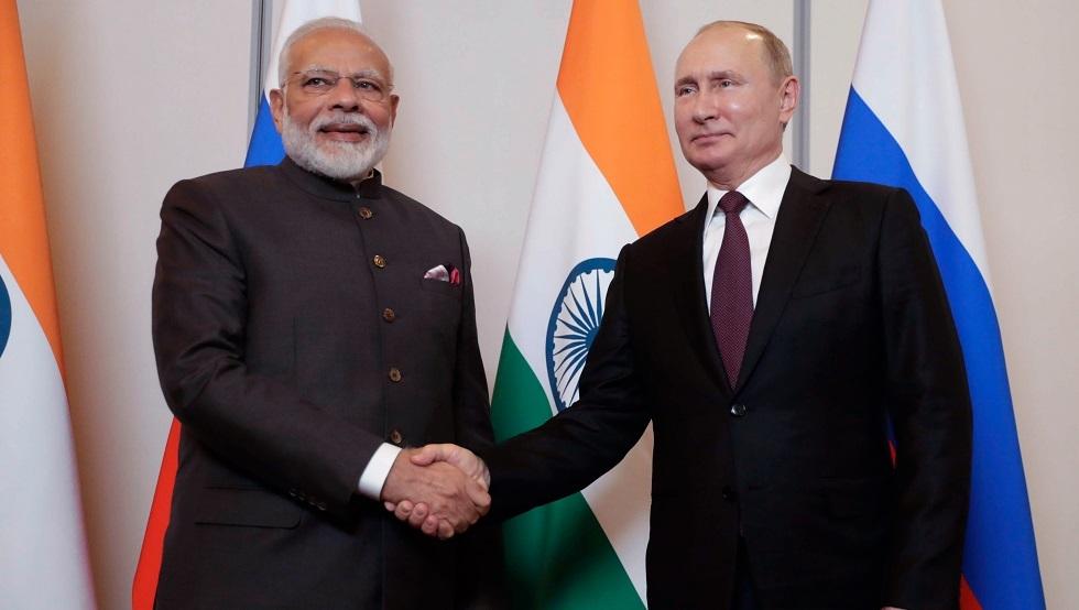 بوتين ومودي يبحثان المشاريع المشتركة بين روسيا والهند