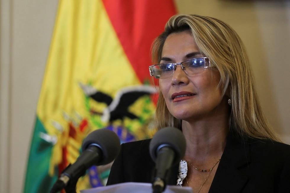 رئيسة بوليفيا المؤقتة جانين آنيز