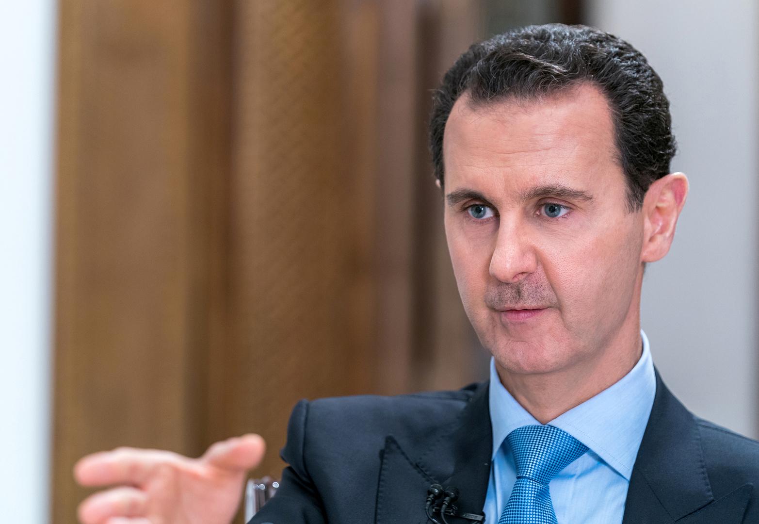 الأسد يعلق على تظاهرات لبنان والعراق