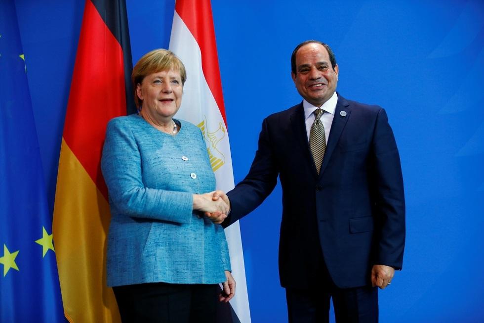 الرئيس المصري عبد الفتاح السيسي والمستشارة الألمانية أجيلا ميركل -أرشيف-