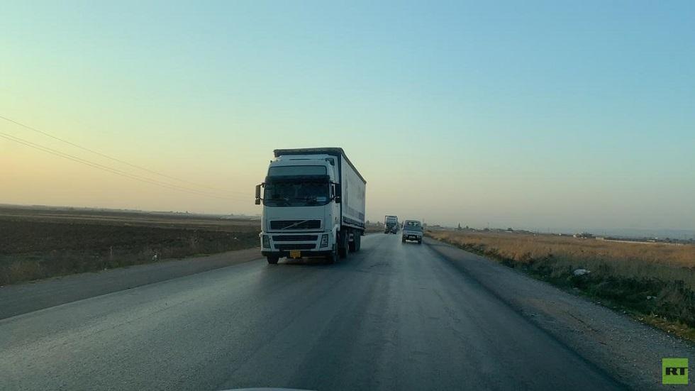 شاحنات تابعة للتحالف الدولي تغادر القامشلي