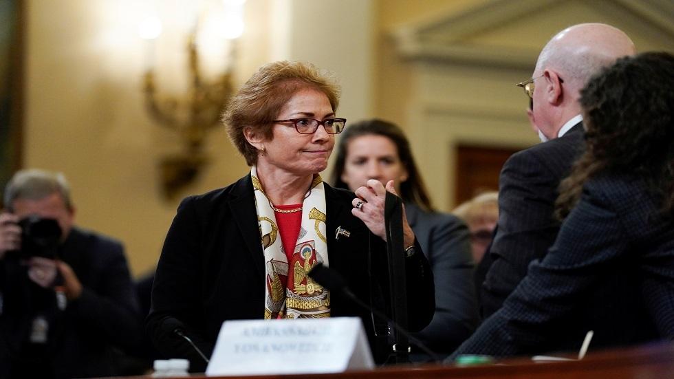 السفيرة الأمريكية السابقة لدى أوكرانيا ماري يوفانوفيتش