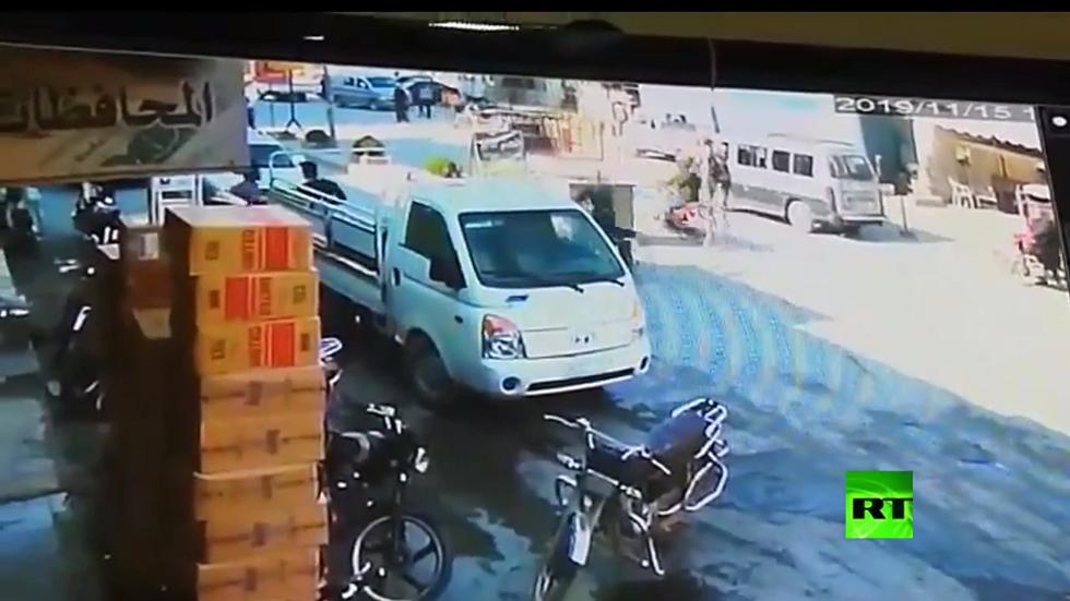 بالفيديو.. لحظة انفجار السيارة المفخخة في مدينة الباب السورية