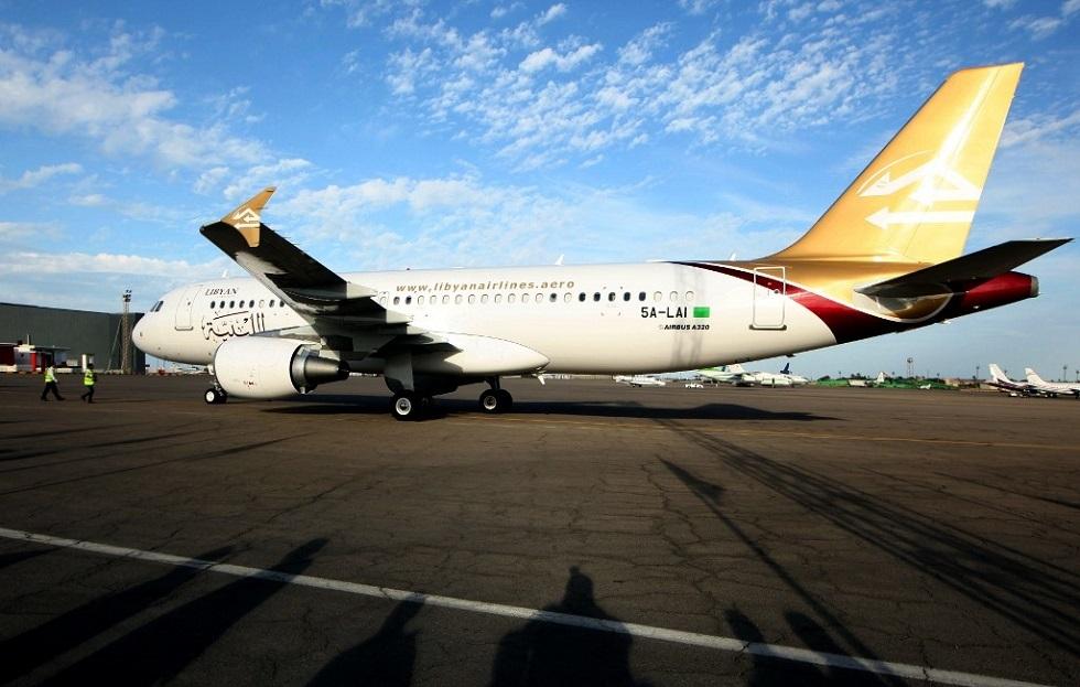 طائرة تابعة للخطوط الجوية الليبية - أرشيف -