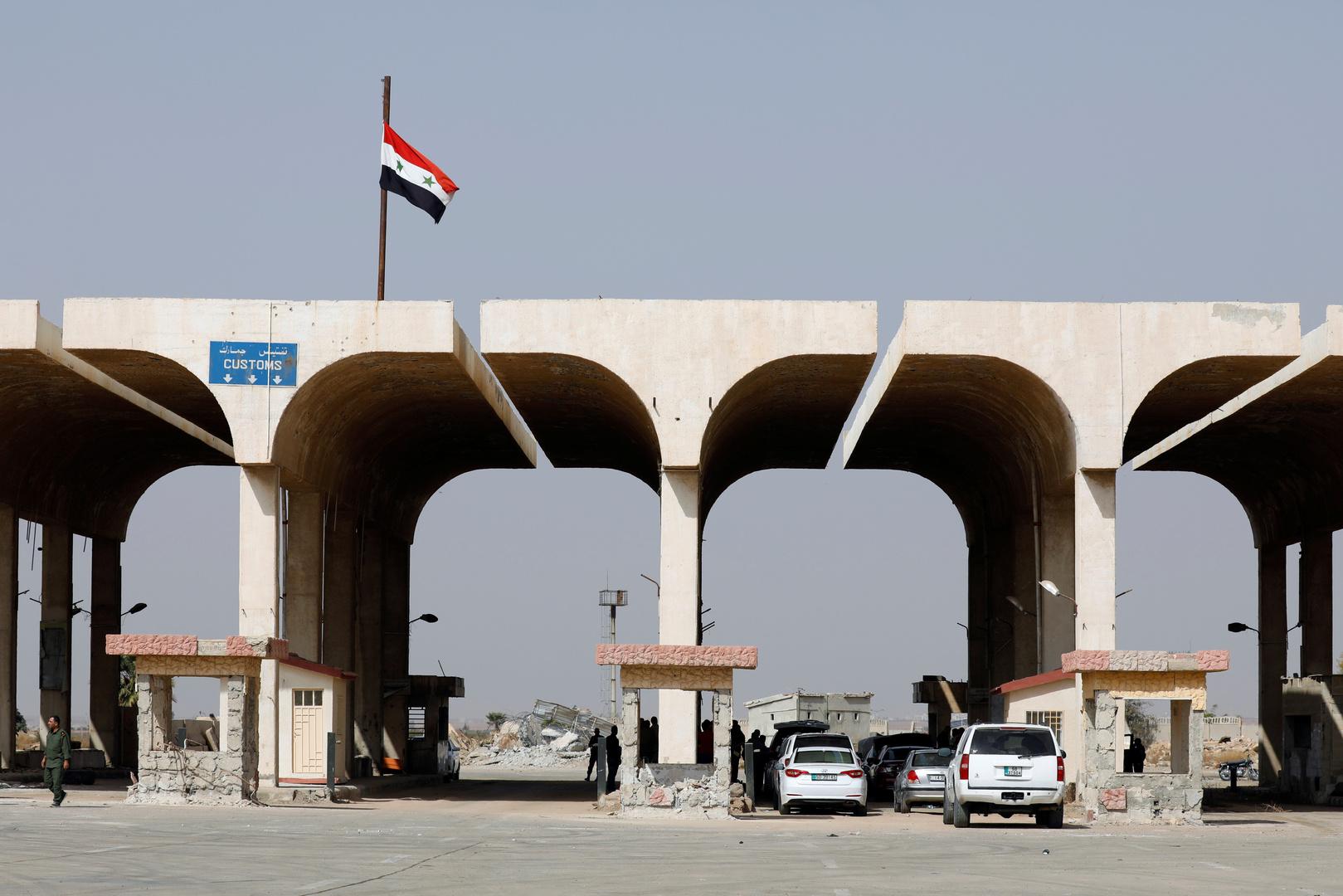 معبر نصيب على حدود سوريا والأردن