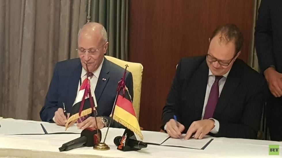 توقيع خطاب النوايا بين الطفرين المصري والألماني