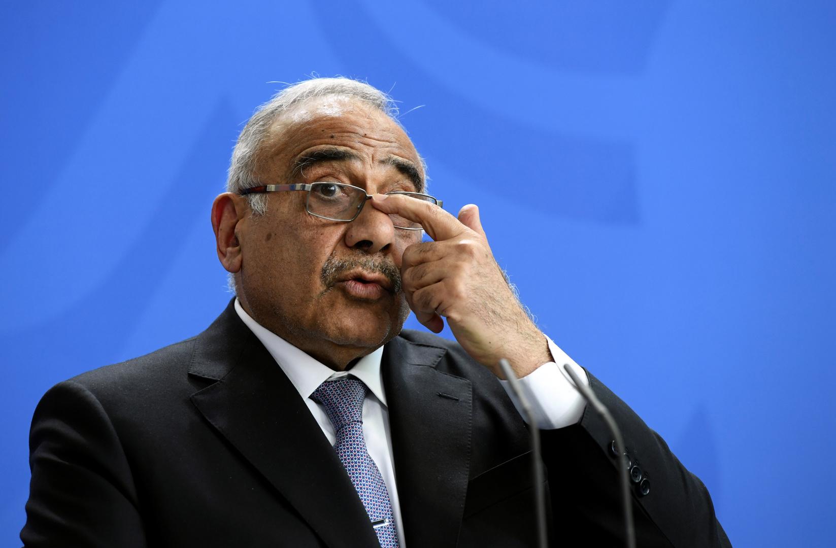 رئيس وزراء العراق: المظاهرات كشفت عوامل الخلل في النظام السياسي