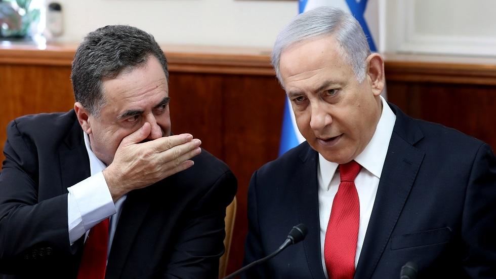 رئيس الوزراء الإسرائيلي بنيامين نتنياهو ووزير خارجيته يسرائيل كاتس