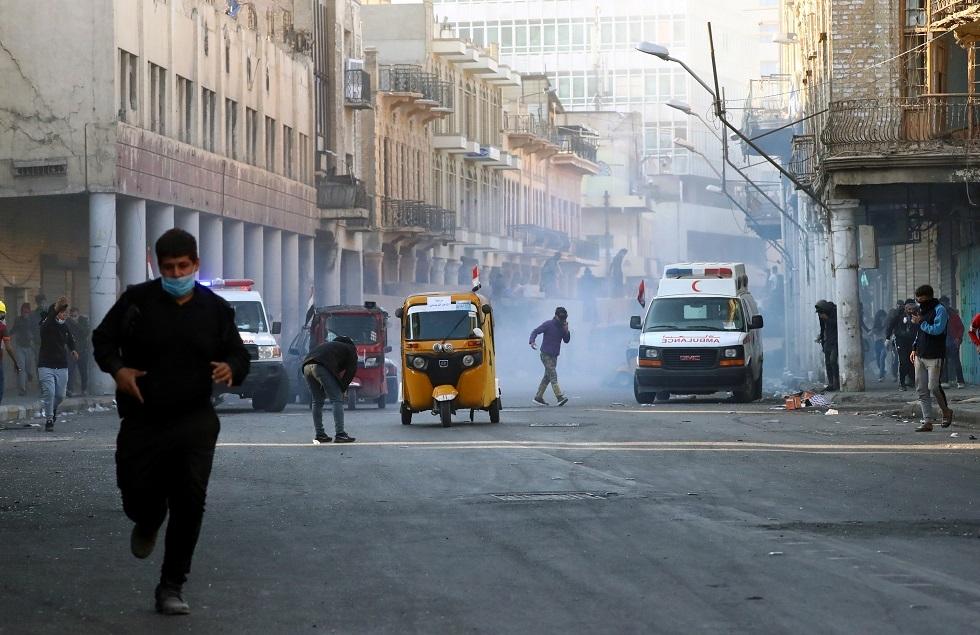 مقتل متظاهرين في بغداد والأمن يستخدم الذخيرة الحية والغاز المسيل للدموع