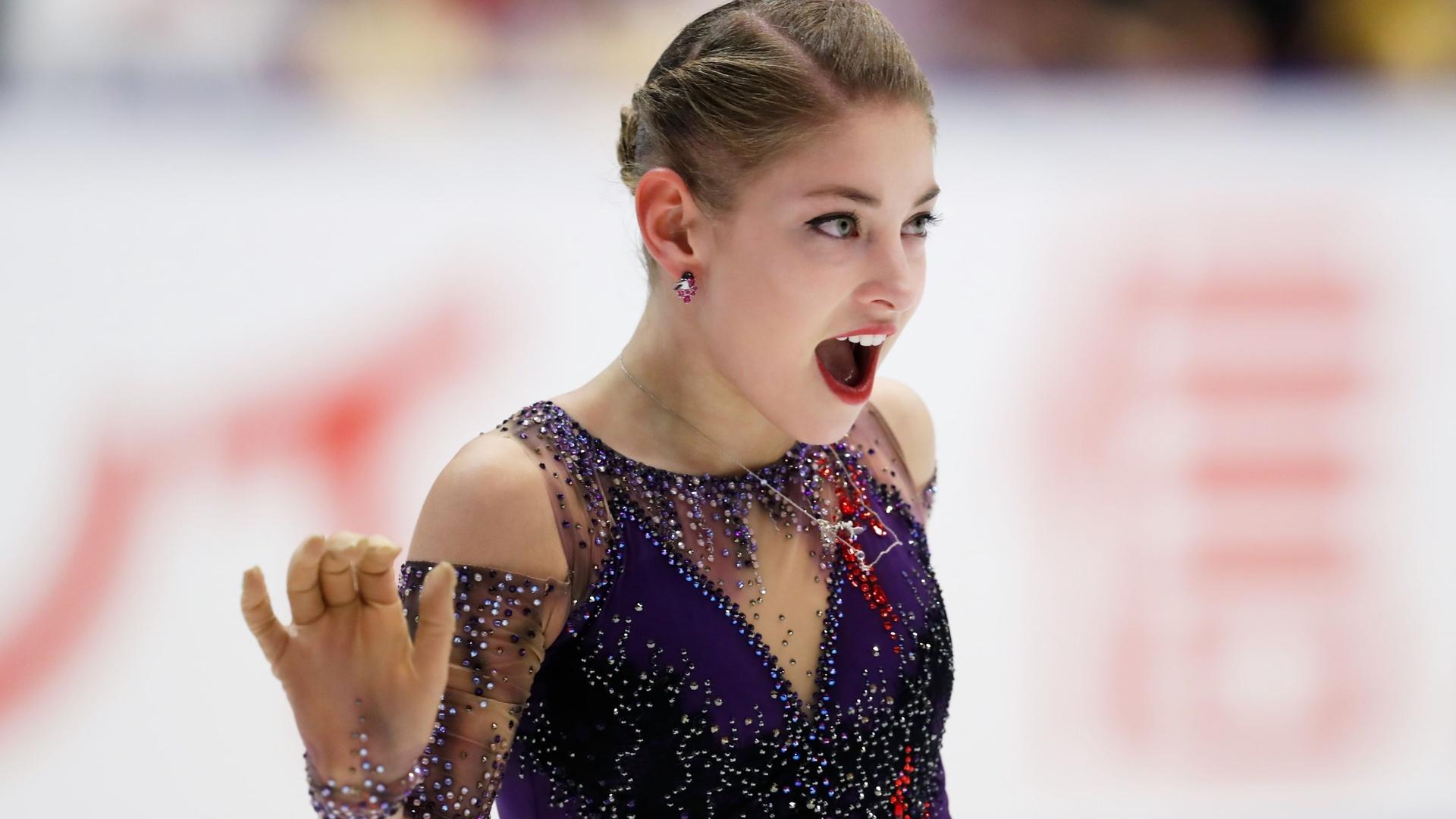 بالفيديو.. الروسية كوستورنايا تفوز بجائزة اليابان للتزحلق على الجليد