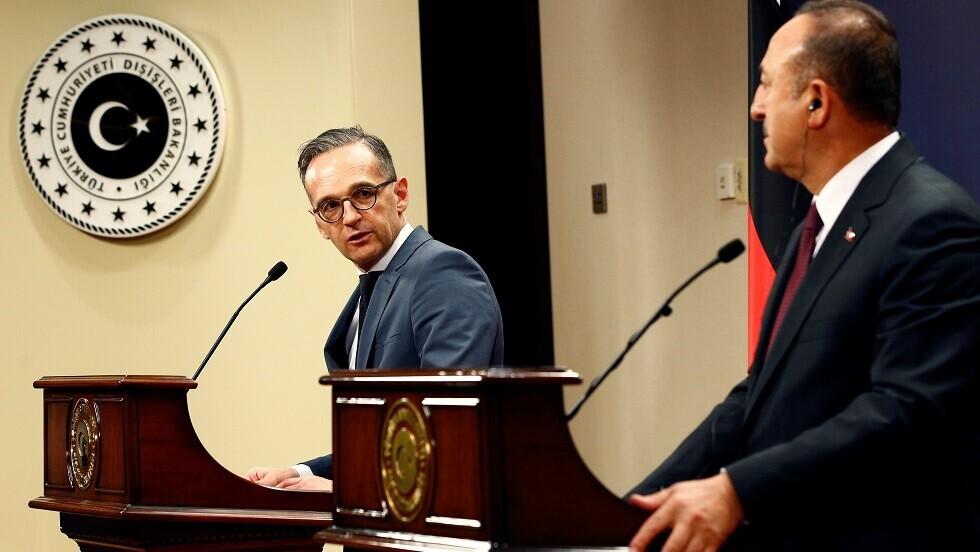 وزير الخارجية الألماني هايكو ماس ونظيره التركي مولود تشاووش أوغلو