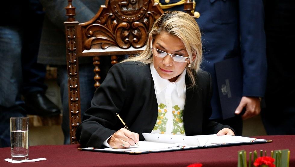 رئيسة بوليفيا المؤقتة توقعقانون انتخابات رئاسية جديدة