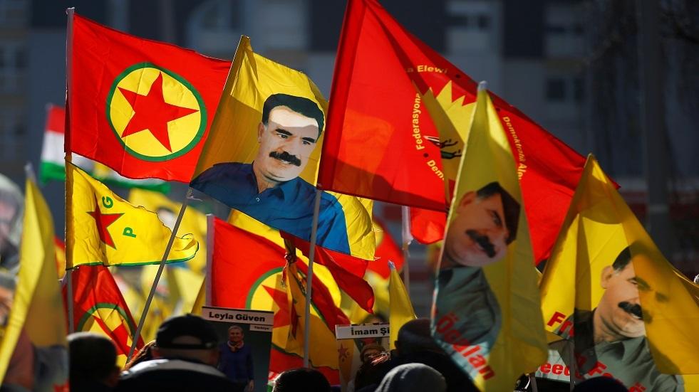 مظاهرة تضامنية مع زعيم حزب العمال الكردستاني المسجون عبد الله أوجلان في ستراسبورغ - أرشيف