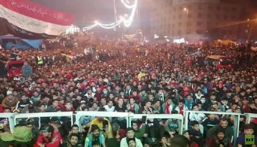 احتفالات عارمة في ساحة التحرير بفوز العراق على قطر