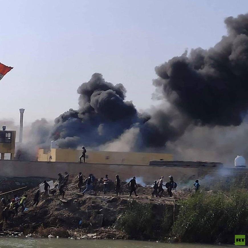 قتلى وعشرات الجرحى في الناصرية بالعراق وحظر تجوال في المدينة