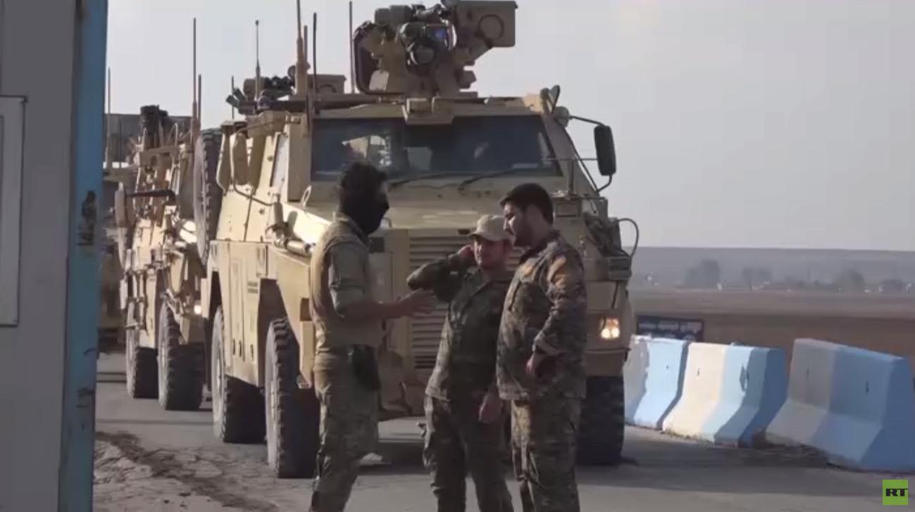خروج وحدة بريطانية من قاعدة قسرك شمال سوريا