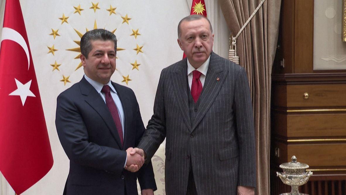 أردوغان يستقبل مسرور بارزاني في أنقرة