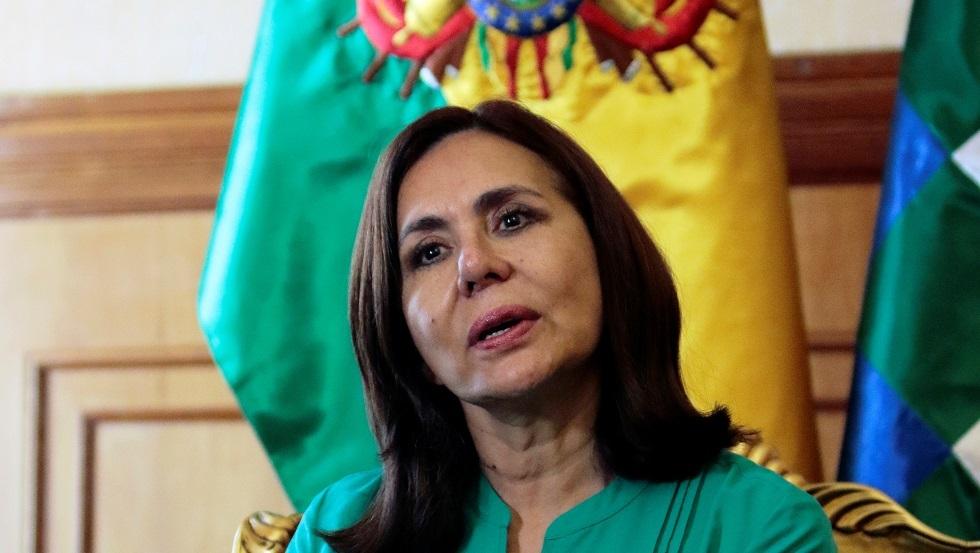 وزيرة الخارجية في حكومة بوليفيا المؤقتة كارين لونغاريك