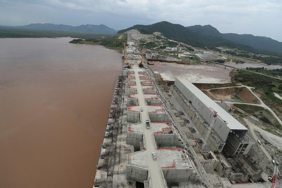 أشغال بناء سد النهضة في إثيوبيا