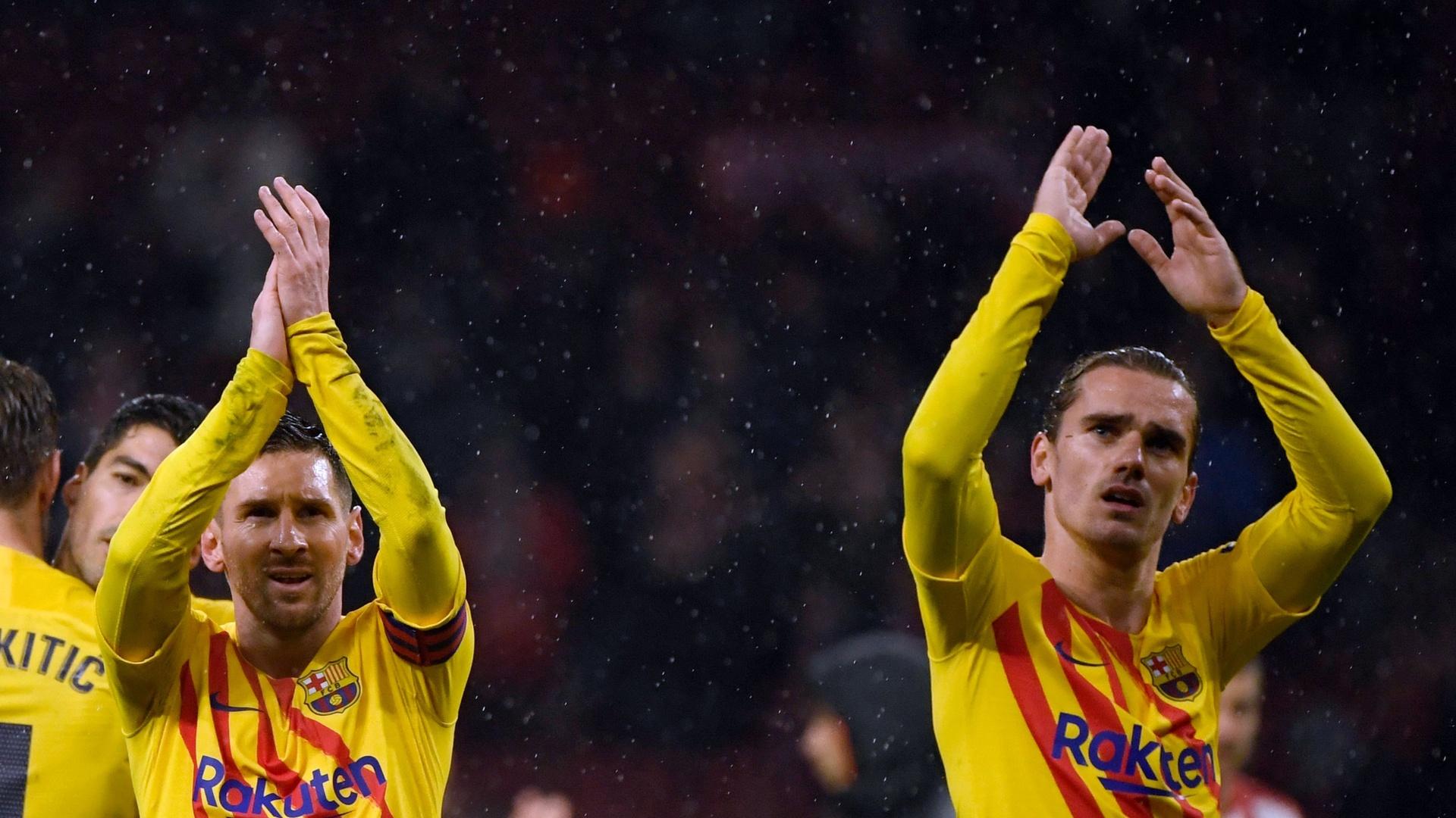 بالفيديو.. استقبال محبط  من جماهير أتلتيكو مدريد لنجم من نجوم برشلونة