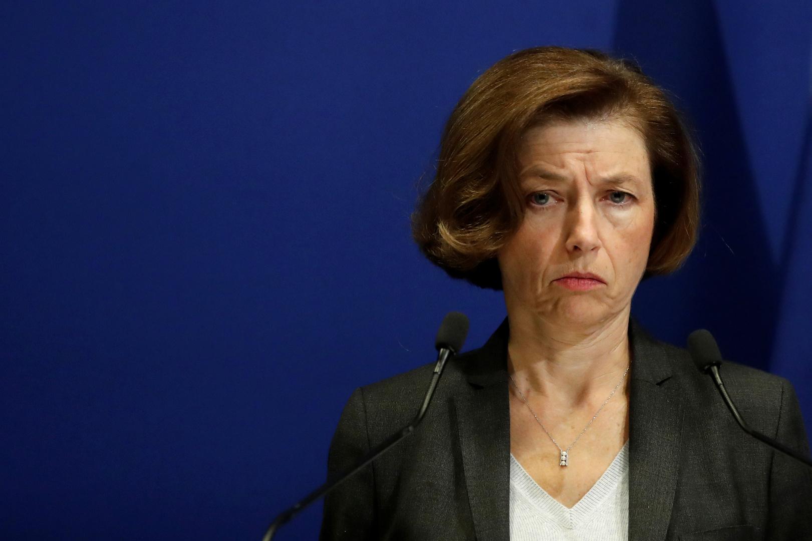 وزيرة الجيوش الفرنسية فلورانس بارلي خلال مشاركتها في منتدى
