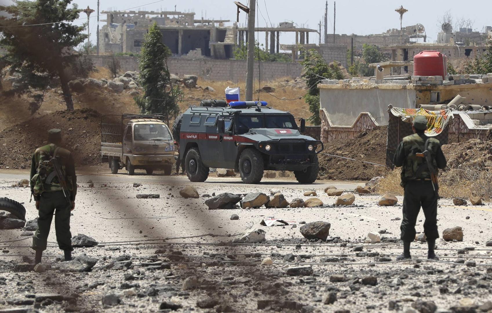 مركبة للشرطة العسكرية الروسية في سوريا - أرشيف
