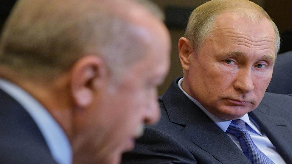 الرئيس الروسي، فلاديمير بوتين، والتركي، رجب طيب أردوغان